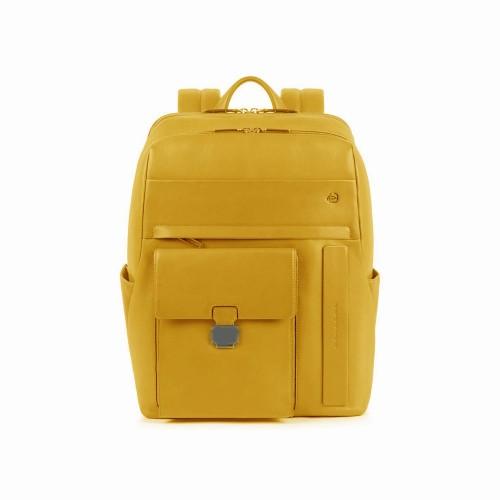 Mochila de Piel Piquadro CA5399S111/G Color Amarillo