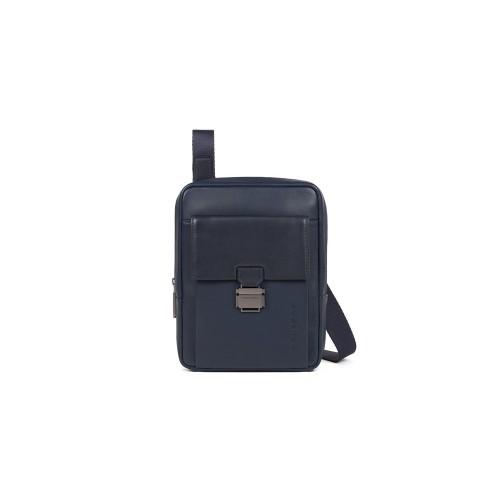 Borsa a Tracolla in Pelle Piquadro CA3084S111/BLU Colore...