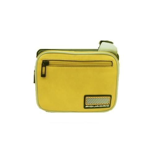 Bandolera de Piel Piquadro CA5143W106/G Color Amarillo y...