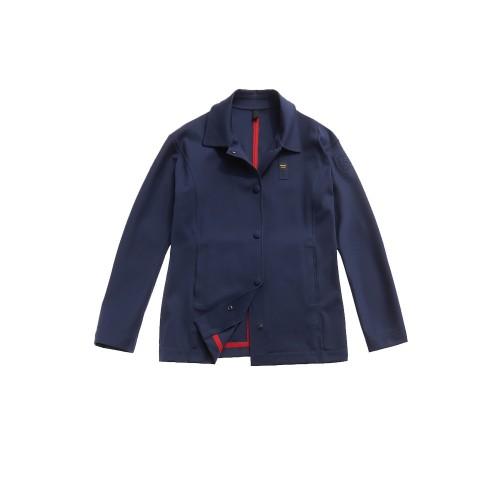 Giacca Lunga Blauer SBLDK04176 WENDY Colore Blu Navy