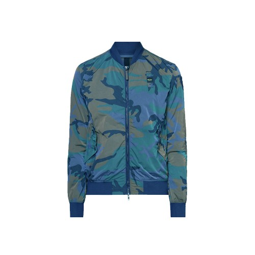 Chaqueta Bomber Blauer SBLUC04089 Color Azul Mimético