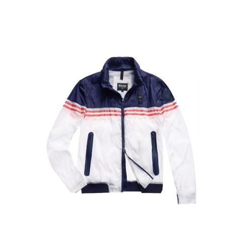 Chaqueta Blauer SBLUC04126 Color Blanco y Azul