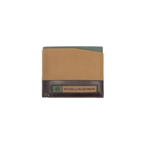 Portafoglio in Pelle PU5189W105R/BEVE Colore Pelle e Verde