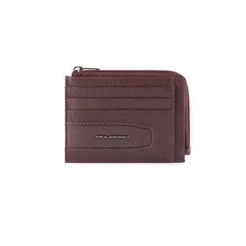 Leather Card Holder Piquadro PP4822W101R/M Color...
