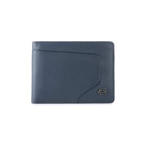 Leather Wallet Piquadro PU257AOR/BLU Color Blue