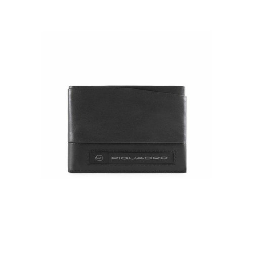 Leather Wallet Piquadro PU5189W105R/N Color Black