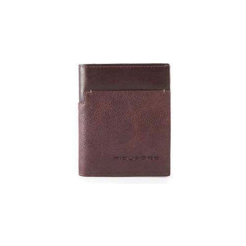 Leather Wallet Piquadro PU3244W95R/TM Color Testa di Moro...