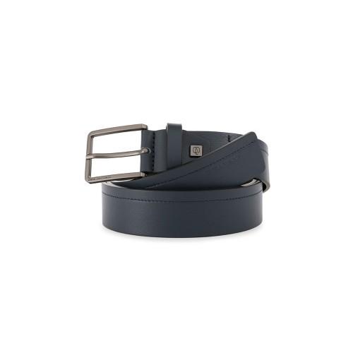Cinturón de Piel Piquadro CU5449S111/BLU Color Azul Marino