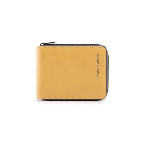 Cartera de Piel Piquadro PU5168W106R/G Color Amarillo