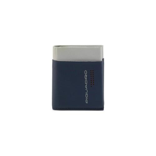 Tarjetero de Piel Piquadro PU5188UB00R/BL Color Azul y Gris