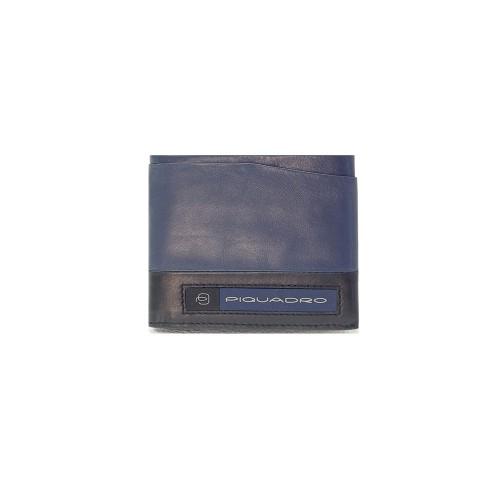 Cartera de Piel Piquadro PU5189W105R/BLU Color Azul Marino