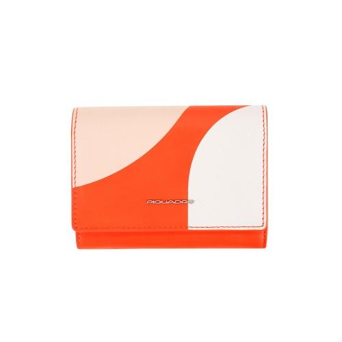 Monedero de Piel Piquadro PD4145TAGR/CIRR Color Naranja