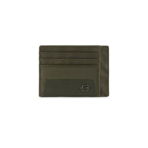 Porta Carte di Credito in Pelle Piquadro PP2762S115R/VE...