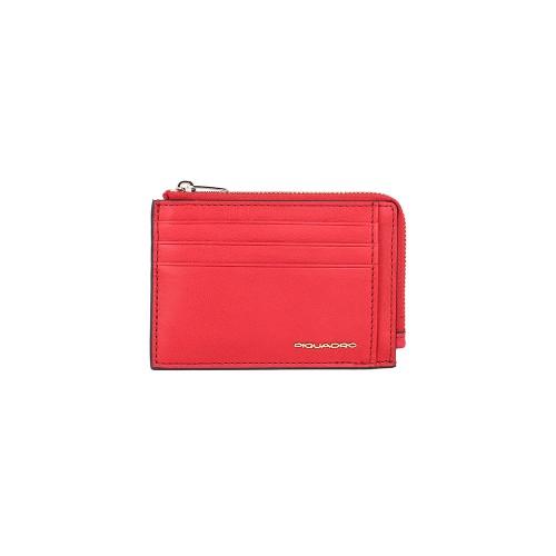 Tarjetero de Piel Piquadro PP4822DFR/R Color Rojo