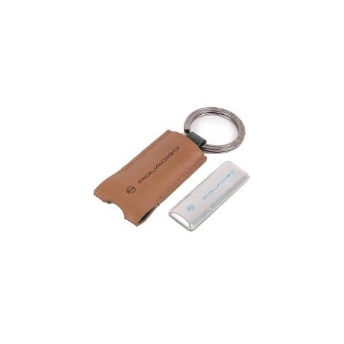Portachiavi in Pelle con USB Piquadro AC4240W105/BEVE...