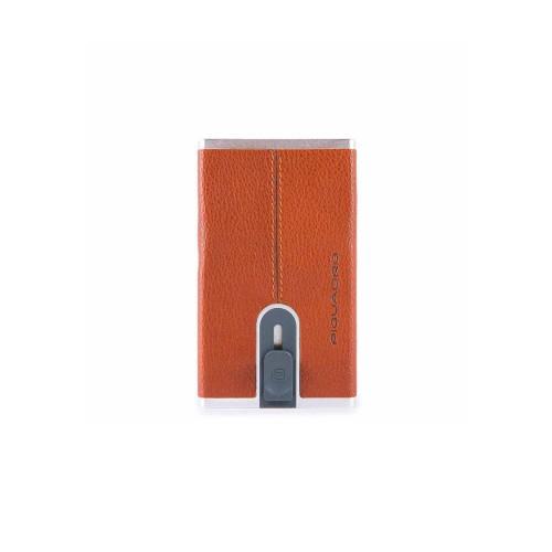 Porta di Credito in Pelle Piquadro PP4825B3R/AR Color Cuero