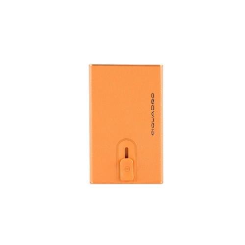 Leather Card Holder Piquadro PP4825EMR/AR Color Orange