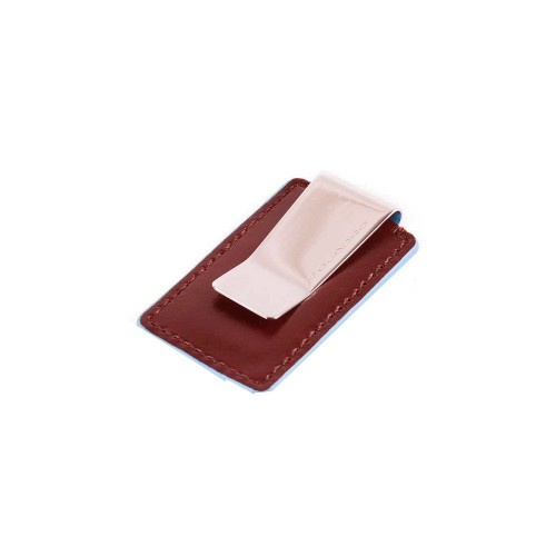 Leather Money Clip Piquadro PP4857B2/R Color Red