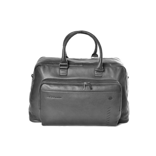 Leather Travel Bag Piquadro BV5444S110/N Color Black