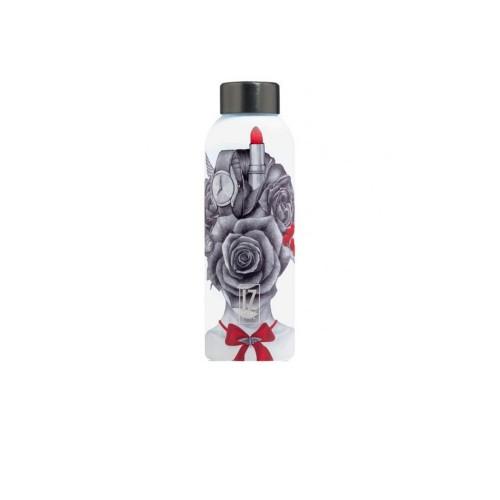 Botella Térmica IZ MEE Her Secret Color Estampado de Rosas