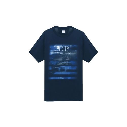T-Shirt C.P. Company 08CMTS336A Colore Blu Navy