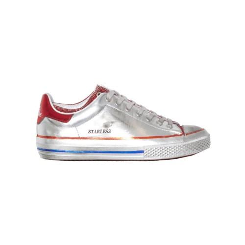 Sneakers in Pelle Hidnander Starless Low Silver Moondust...