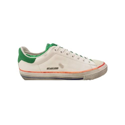 Sneakers in Pelle Hidnander STARLESS LOW WHITE / GREEN...