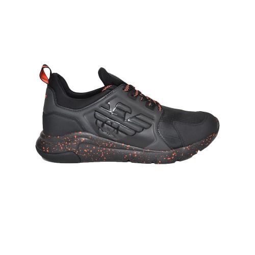 Sneakers EA7 Emporio Armani X8X057 XK217 Color Negro y Rojo