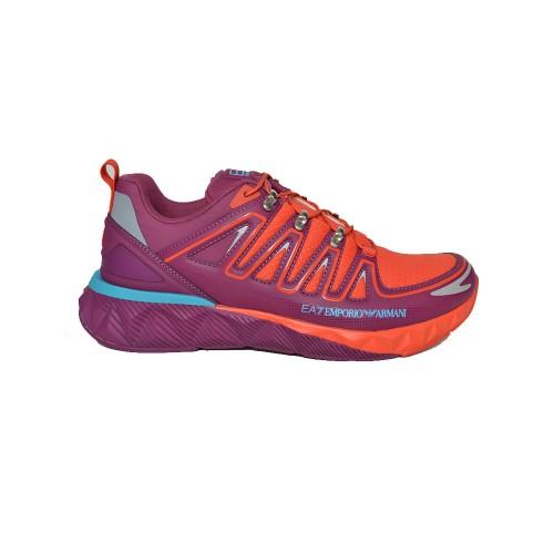 Sneakers EA7 Emporio Arman X8X055 XK224 Q244 Colore Lilla...
