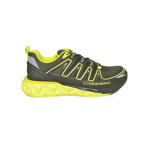 Sneakers EA7 Emporio Arman X8X055 XK224 Q253 Colore Kaki...