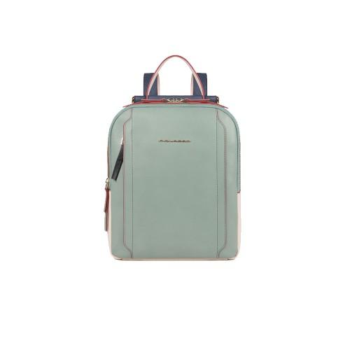 Zaino in Pelle Piquadro CA5566W92/VB Colore Verde e Blu