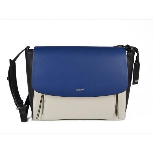 Bolso de Piel DKNY R461590205 Color Azul Negro y Blanco