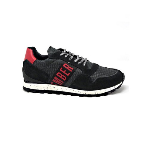 Sneakers Bikkembergs 109196 Color Negro y Rojo