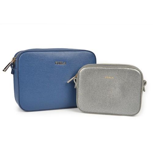 Bolso Furla Azul con Neceser Gris 810FI608CS