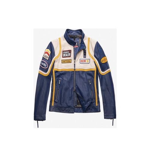 Chaqueta de Piel Blauer BLUL02422 USA ANDERSON Color Azul...