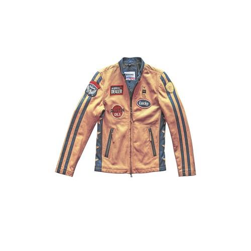 Chaqueta de Piel Blauer BLUL02420 USA WILSON Color Amarillo