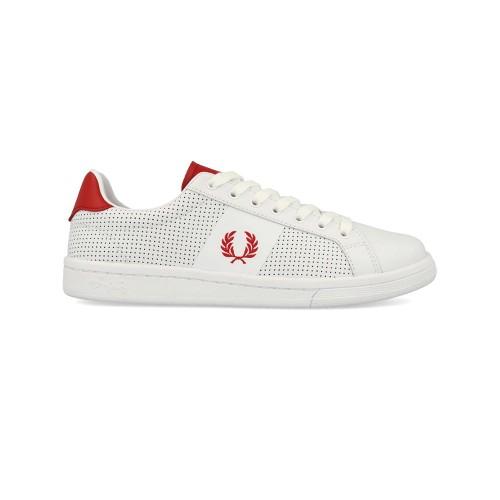 Sneakers de Piel Fred Perry B5192W B721 Color Blanco
