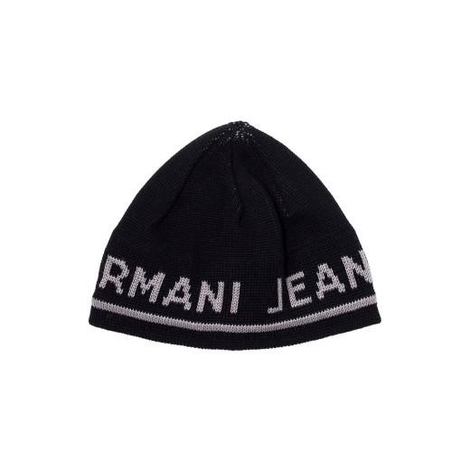 Gorro Armani Jeans CD119 Color Negro y Letras de la Marca...