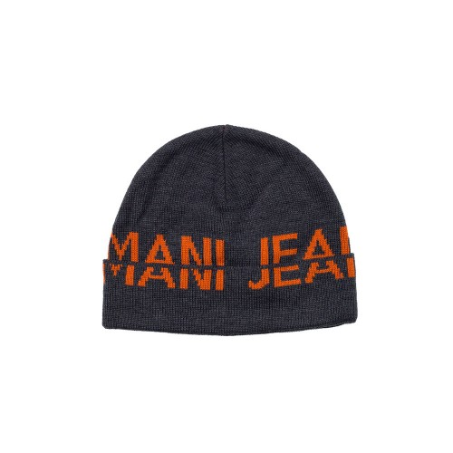 Gorro Armani Jeans CD119 Color Antracita y Naranja