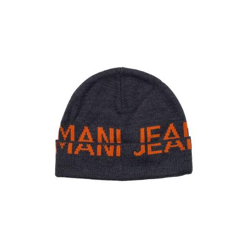 Gorro Armani Jeans CD119 Color Antracita y Naranja