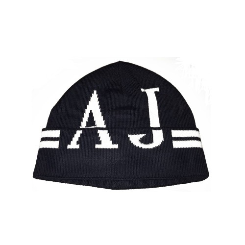 Gorro Armani Jeans CD119 Color Negro Logo en Blanco