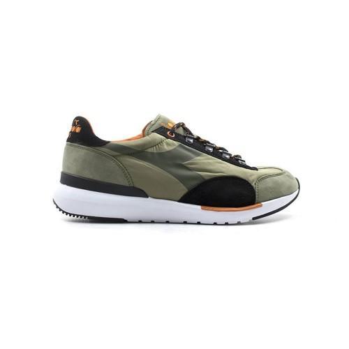 Sneakers Diadora Equipe Evo 172534 70432 Color Kaki y Negro