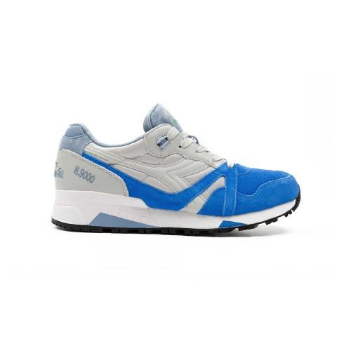 Sneakers N9000 Double L 170483 C6130 Color Gris y Azul