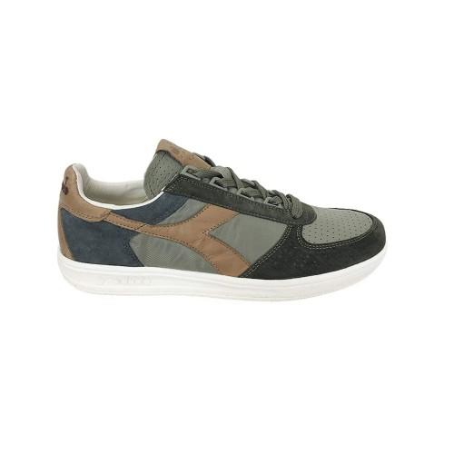 Sneakers Diadora B.Elite 170581 C7167 Colore Kaki  e Pelle