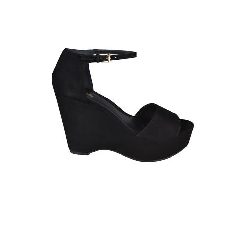 Sandalias de Cuña Michael Kors Claire Mid Wedge Color Negro