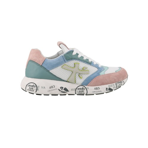 Sneakers Premiata ZACZACD 3735 Green and Pink