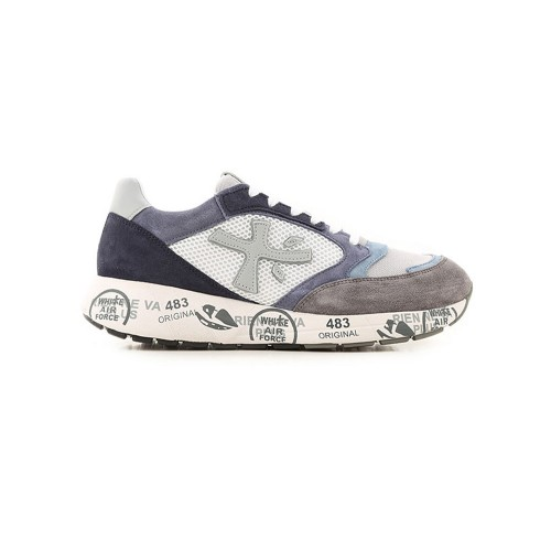 Sneakers Premiata ZACZAC 4613 Color Azul y Blanco