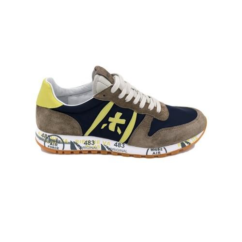 Sneakers Premiata ERIC 4665 Color Azul Marino y Marrón