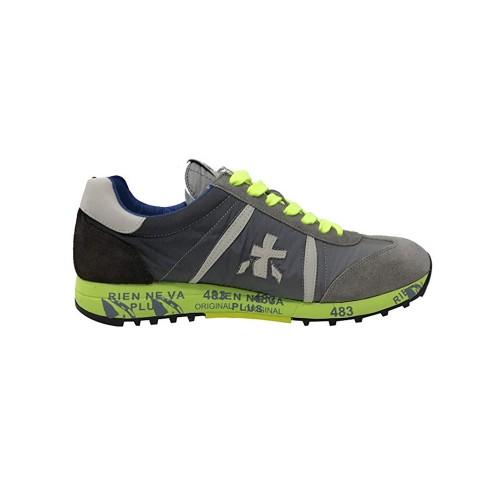 Sneakers Premiata LUCY 1313EA Color Negro y Lima