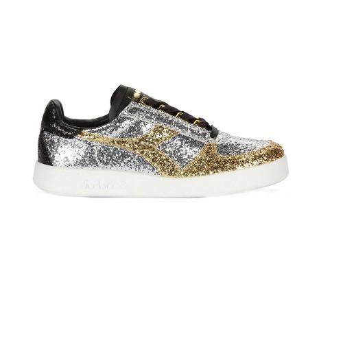 Sneakers Diadora B.Elite Glitter 173595 C3921 Colore Oro...